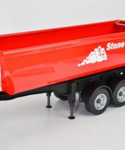 1:14 3-AXLE HALF PIPE TIP-UP TRAILER KIT (STONE MASTER)